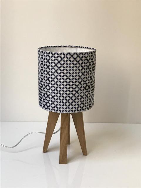 magasin luminaire lyon lampe quadripode mini géométrique bleu