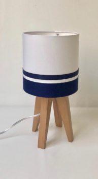 magasin luminaire lyon lampe quadripode mini uni bandes marines decoration