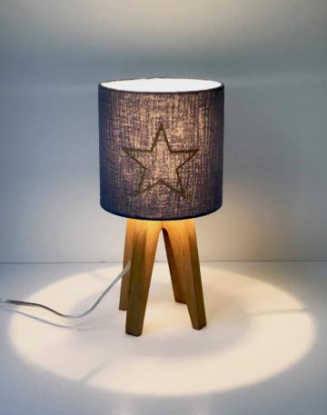 décoration magasin luminaire lampe quadripode mini étoile lyon doré