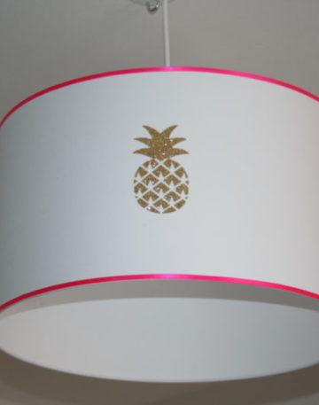 magasin luminaire lyon suspension chambre enfant décoration fille ananas rose