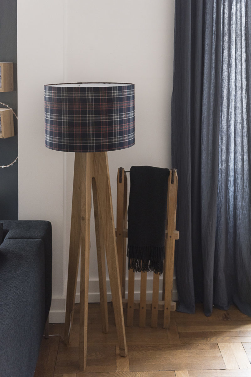 magasin luminaire lyon lampadaire motif ecossais decoration design