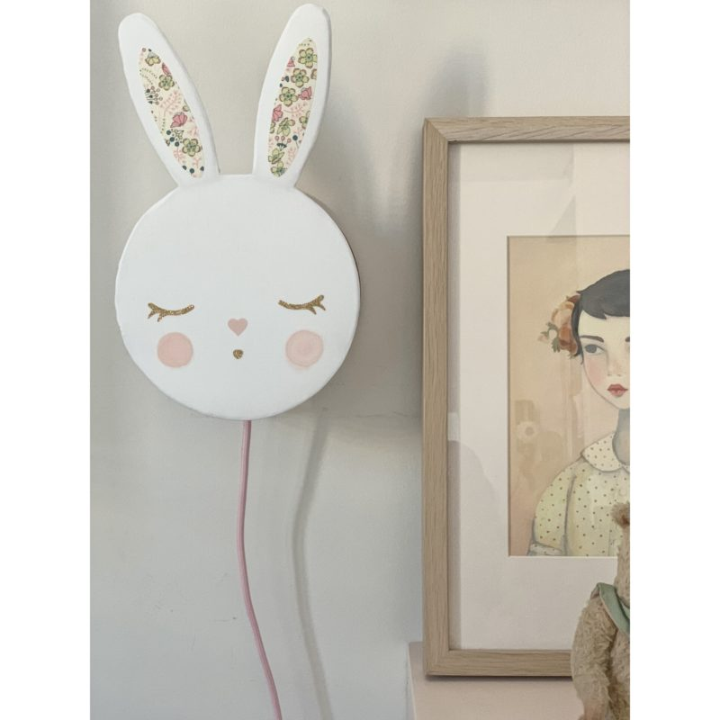 magasin luminaire lyon lampe applique lapin Liberty decoration chambre enfant cadeau naissance