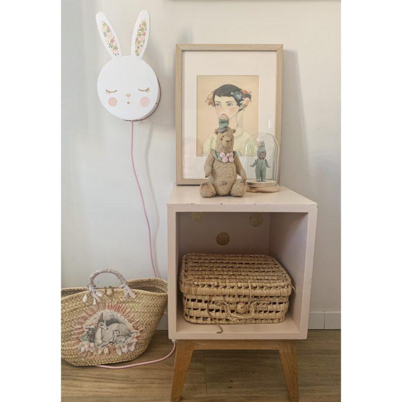 magasin luminaire lyon lampe lapin rose decoration chambre enfant idée cadeau naissance liberty