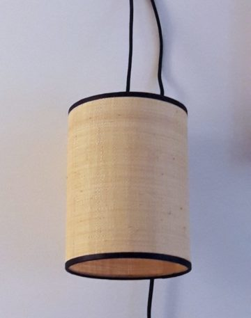 magasin luminaire lyon abat jour lampe baladeuse rabane fibre naturelle decoration interieur