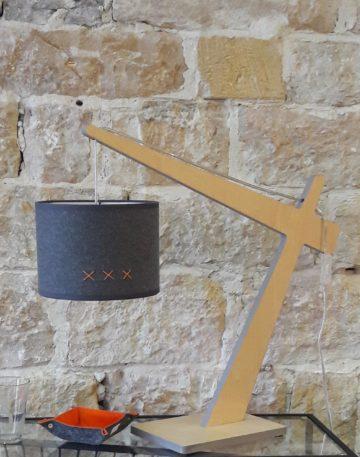magasin luminaire lyon abat jour lampe potence flanelle orange deco interieur chalet montagne idee cadeau