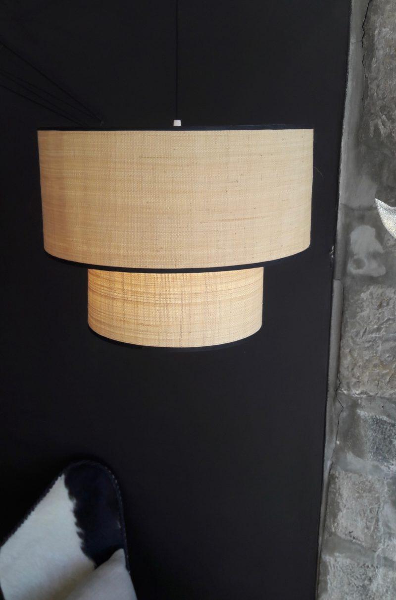 magasin luminaire lyon abat jour rabane fibre naturelle rafia decoration interieur