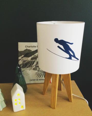 magasin luminaire lyon déco interieur chalet montagne skieur abatjour marine décoration idée cadeau