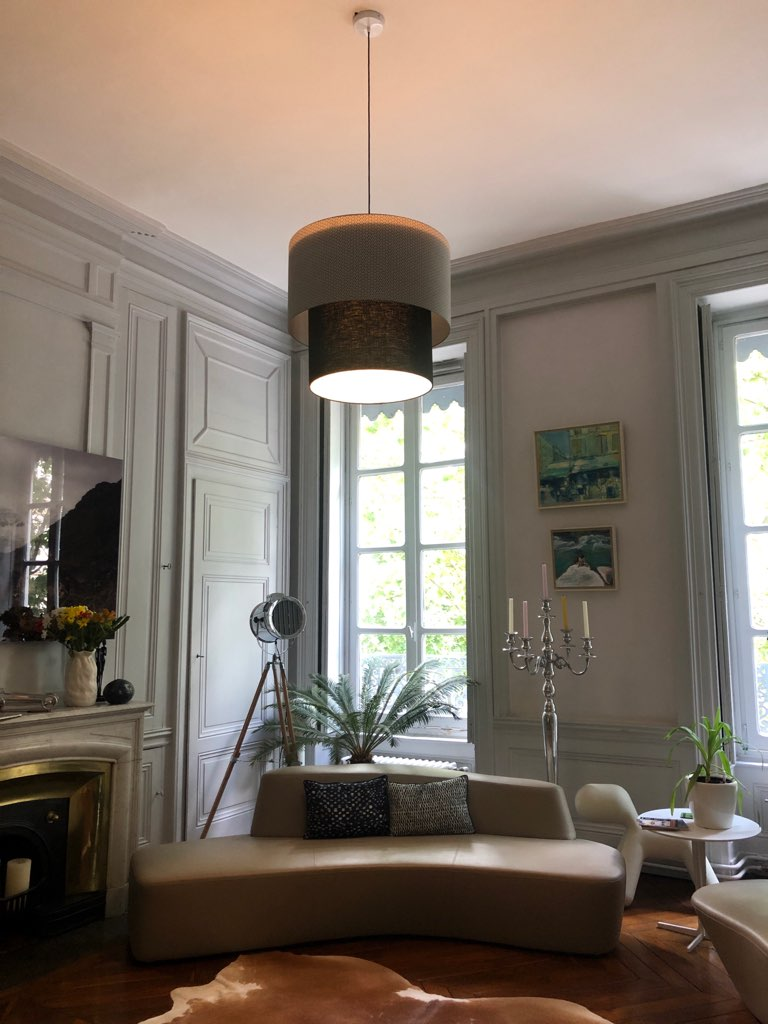 magasin luminaire lyon double suspension decoration interieur lumiere abat jour