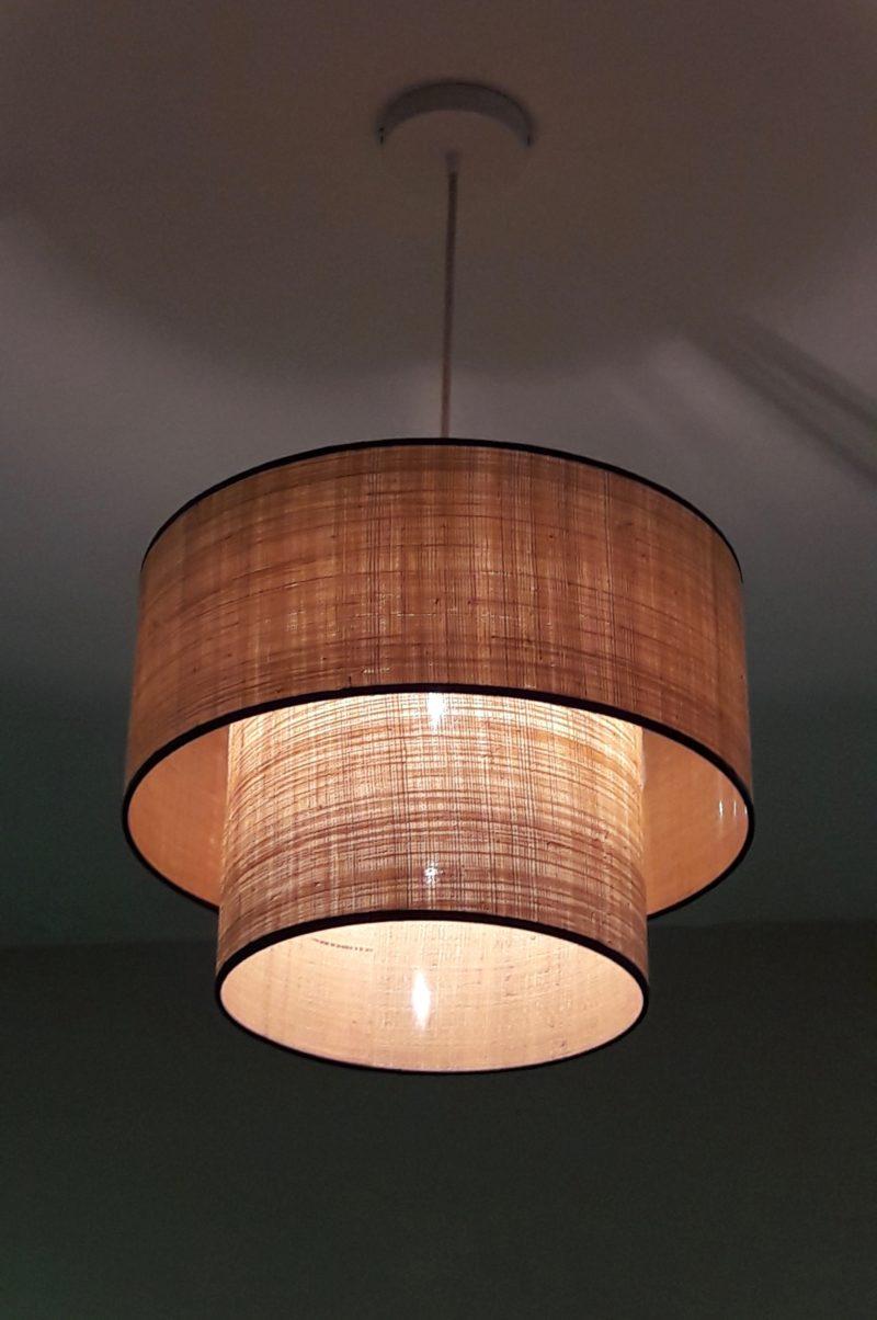 magasin luminaire lyon double suspension rabane decoration interieur rafia abat jour style bohem