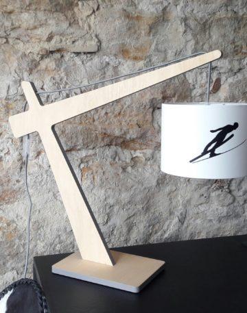 magasin luminaire lyon lampe abat jour montagne decoration chalet interieur skieur noir
