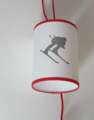 magasin luminaire lyon lampe baladeuse montagne hiver schuss argenté skieur snow décoration interieur montagne chalet