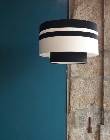 magasin luminaire lyon suspension abat jour lumiere decoration interieur noir blanc