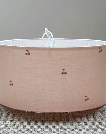 magasin luminaire lyon suspension chambre enfant cadeau de naissance double gaze coton nude cerise cuivre