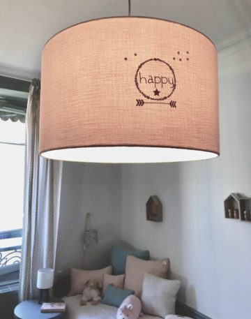magasin luminaire lyon suspension double gaze coton nude happy decoration chambre enfant