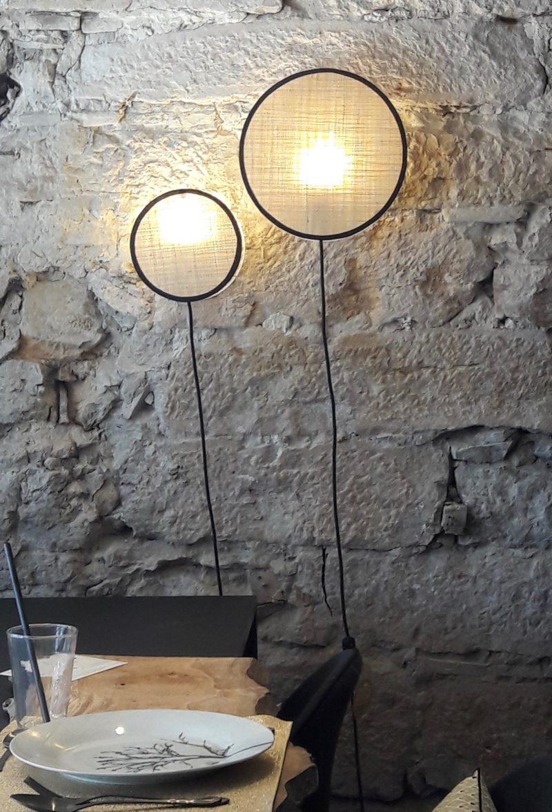 magasin luminaire lyon abat jour lampe sur pied decoration interieur salon applique murale tam tam rabane noire