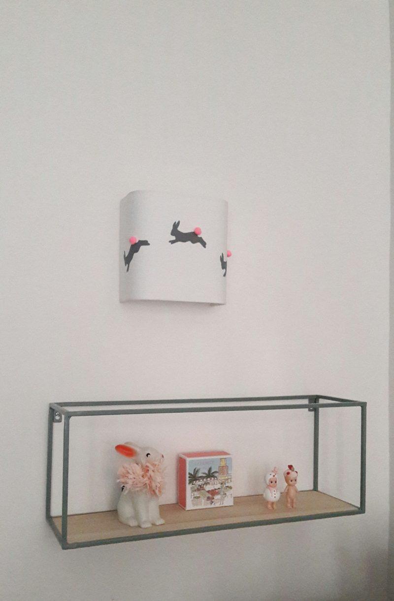 magasin luminaire lyon applique murale deco chambre enfant lapin lumiere pompon fluo