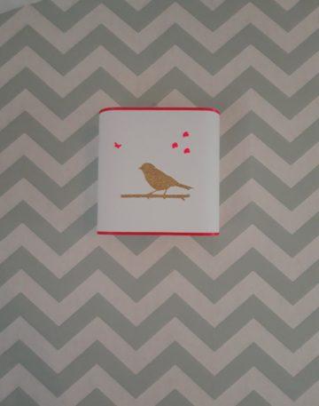 magasin luminaire lyon applique murale demi carre deco chambre enfant oiseau paillete or fluo