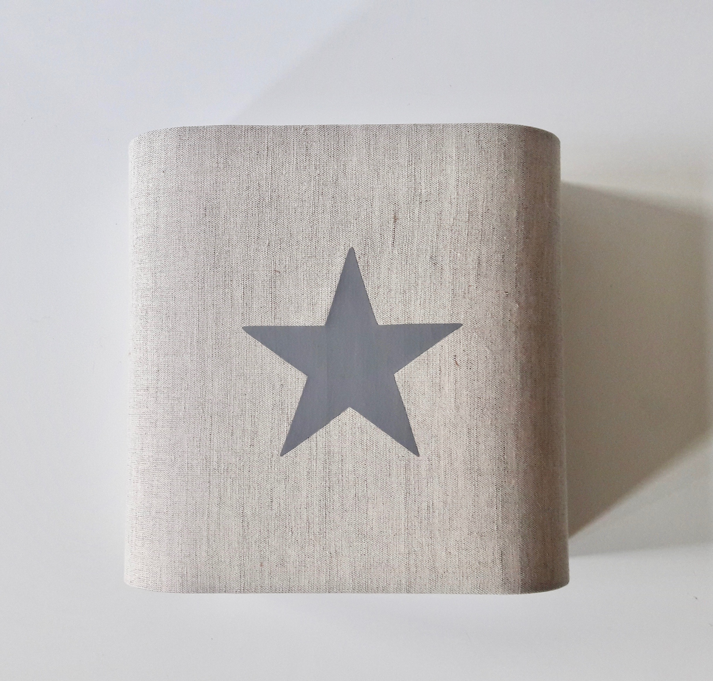 Abat-jour//Gris//étoile//tissu//e27