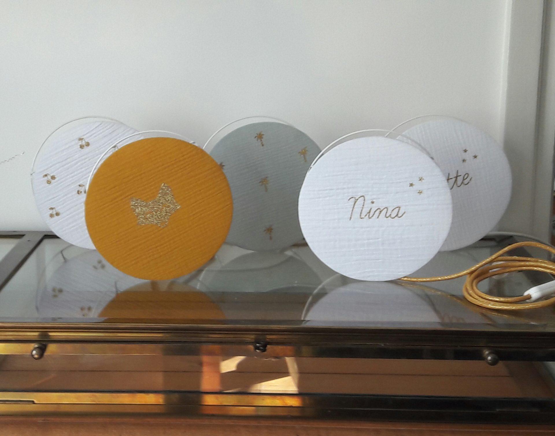 magasin luminaire lyon decoration chambre enfant lampe chevet objet deco gaze coton moutarde sur mesure personnalisation