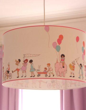magasin luminaire lyon decoration chambre enfant suspension abat jour tissu farandole Mickael Miller Sarah jane rose
