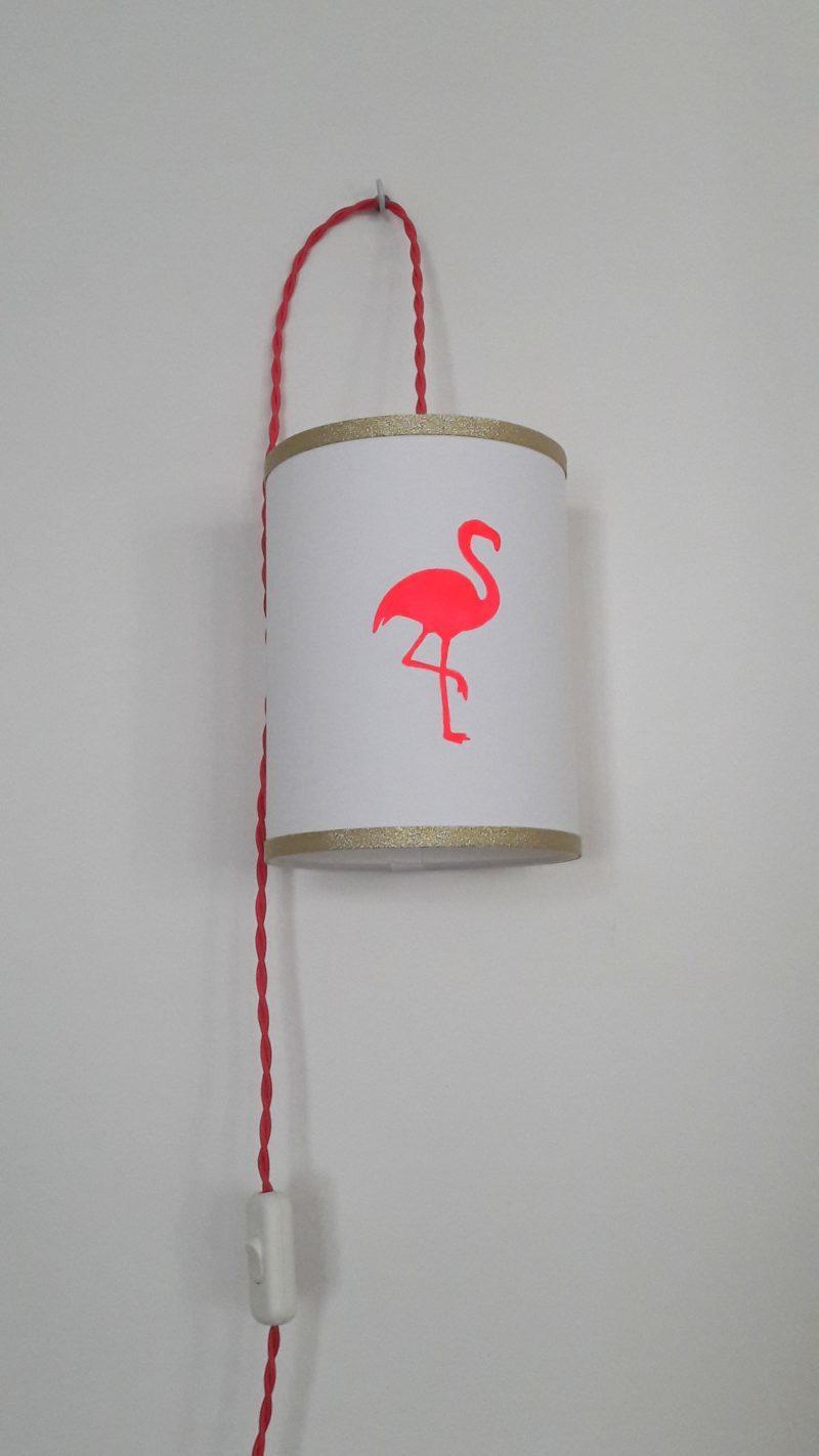 Lampe baladeuse flamant rose
