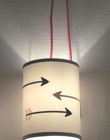 magasin luminaire lyon decoration lampe baladeuse rose fleches chambre enfant fille abat jour