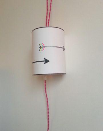 magasin luminaire lyon decoration lampe baladeuse rose fleches chambre enfant univers fille