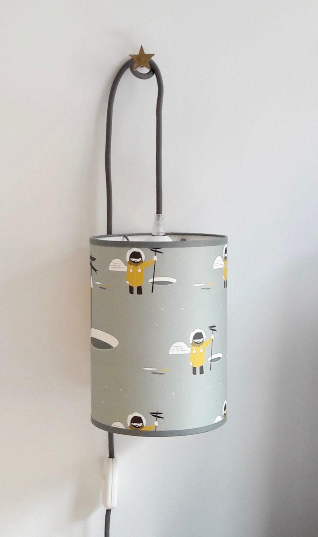 magasin luminaire lyon lampe baladeuse chevet bureau abat jour decoration chambre enfant inuit pole nord esquimeau moutarde gris jaune