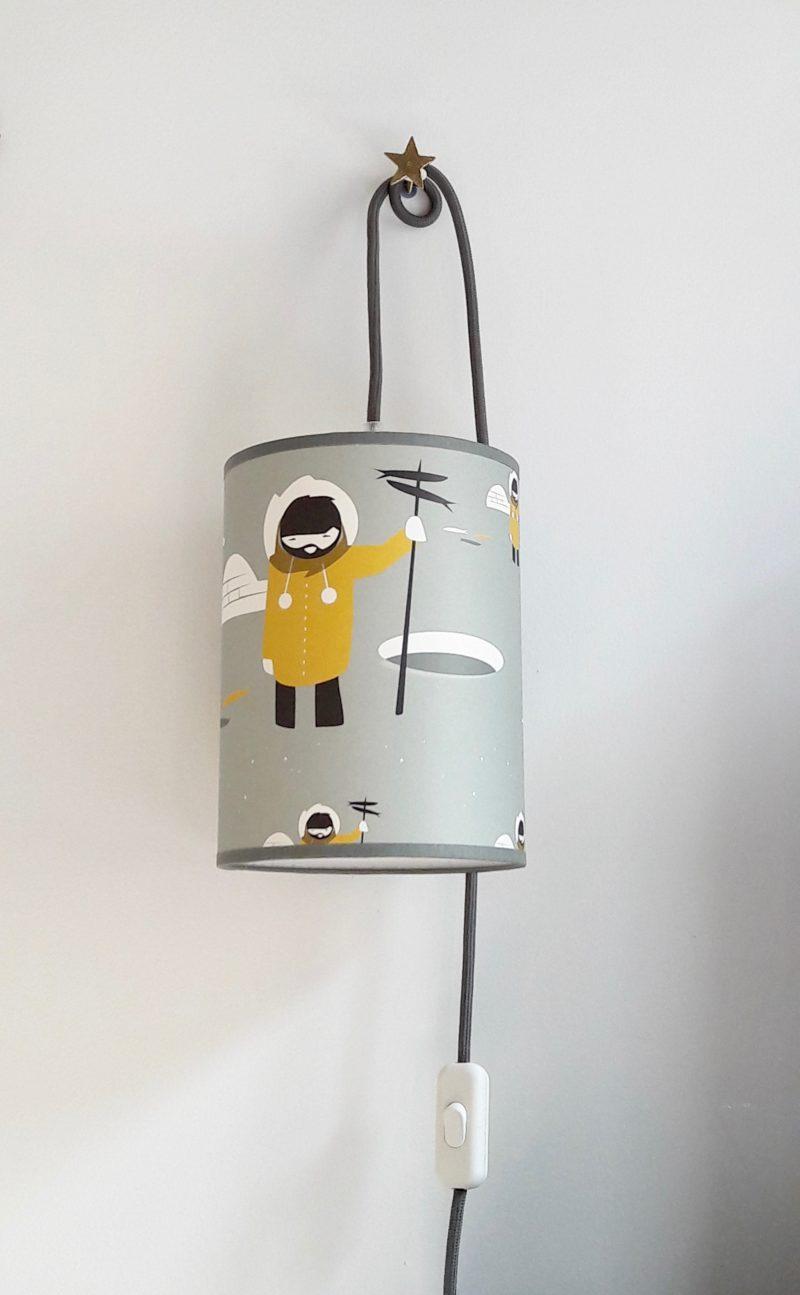 magasin luminaire lyon lampe baladeuse chevet bureau chambre enfant univers polaire inuit esquimeau moutarde gris