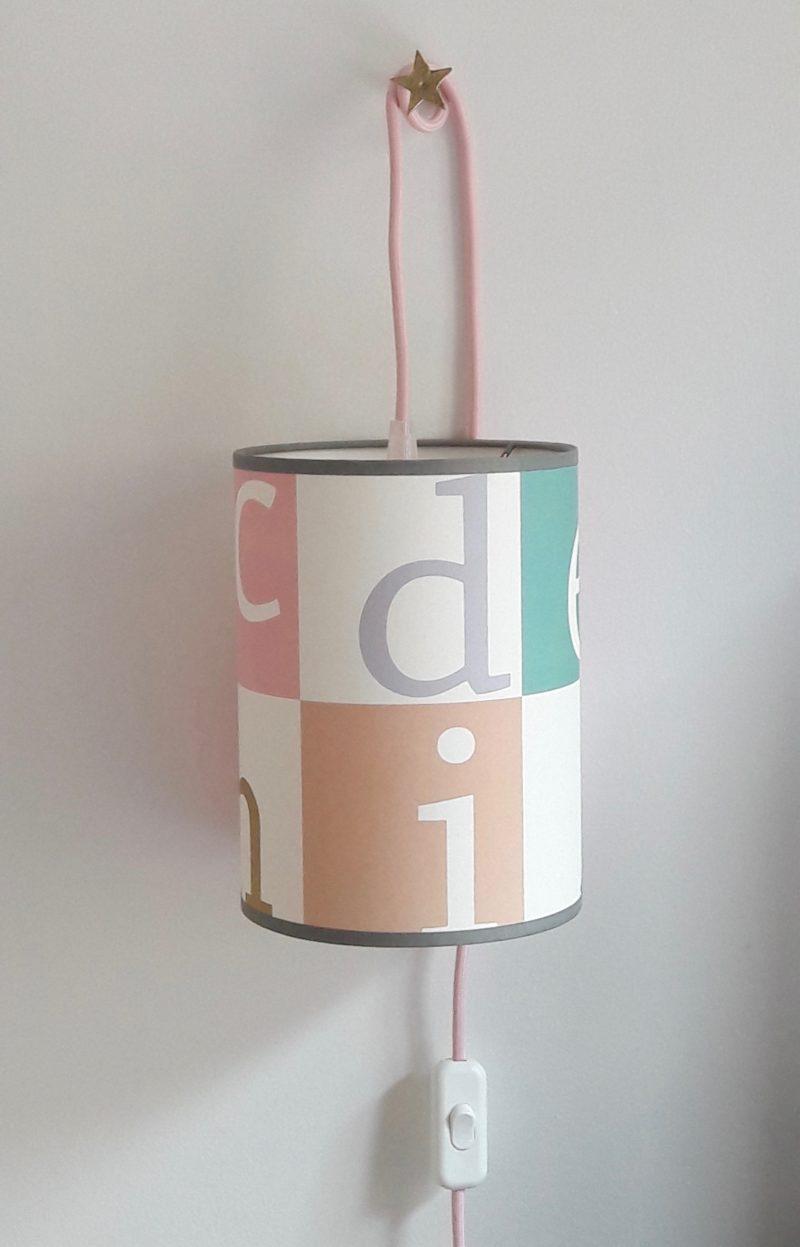 magasin luminaire lyon lampe baladeuse decoration chambre enfant univers bebe abat jour alphabet couleur pastel
