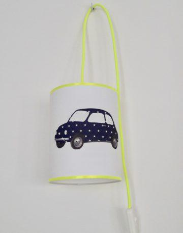 magasin luminaire lyon lampe baladeuse decoration interieur chambre enfant voiture fiat 500 etoile marine jaune fluo abat jour suspension