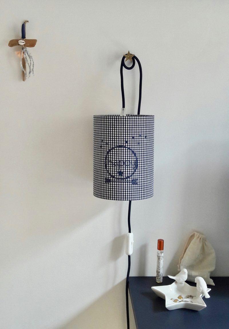 magasin luminaire lyon lampe baladeuse suspension abat jour vichy happy paillete marine enfant