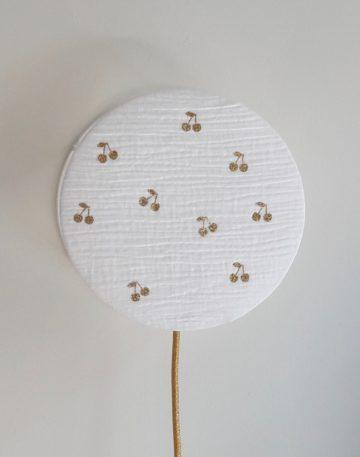 magasin luminaire lyon lampe enfant decoration chambre idee cadeau naissance cerise double gaze coton glitter or