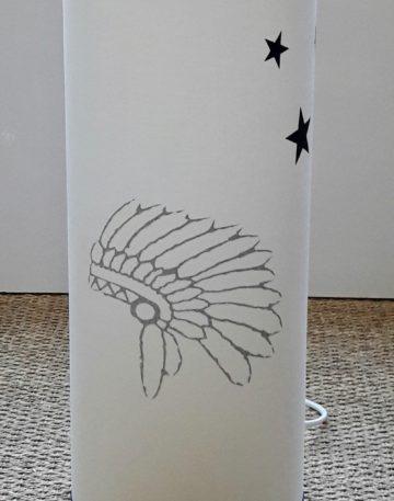 magasin luminaire lyon lampe totem decoration chambre enfant ado lumiere objet deco coiffe indien glitter argent