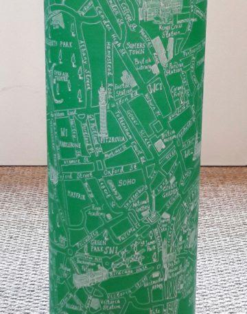 magasin luminaire lyon lampe totem plan londres map vert decoration interieur salon chambre enfant