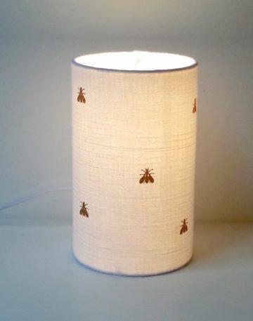 magasin luminaire lyon decoration interieur chambre double gaze coton blanche abeille paillete or dore