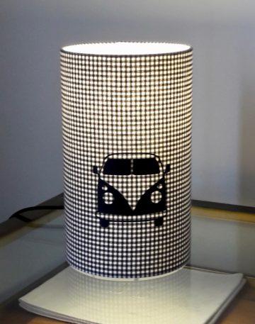 magasin luminaire lyon lampe totem chevet deco chambre univers enfant cadeau vichy van volkswagen noir