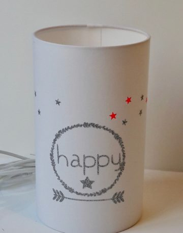 magasin luminaire lyon lampe totem tube chevet decoration chambre enfant happy paillete argente