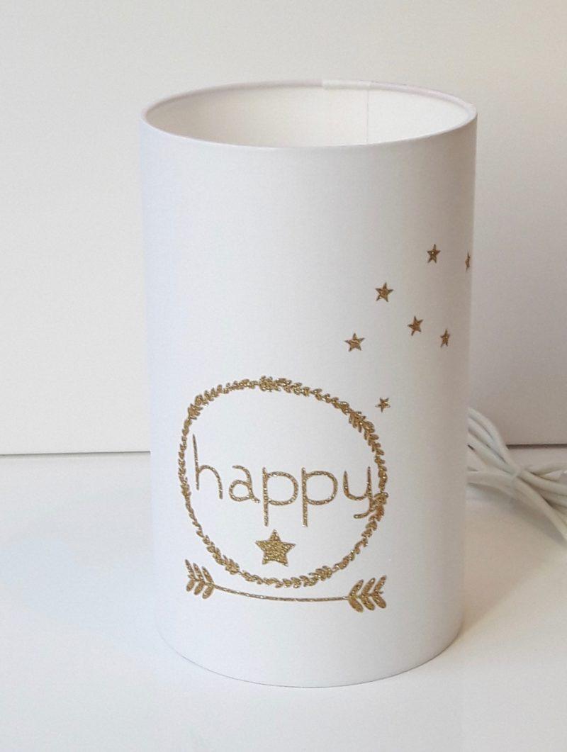magasin luminaire lyon lampe totem tube chevet decoration interieur chambre enfant couronne happy paillete dore 2
