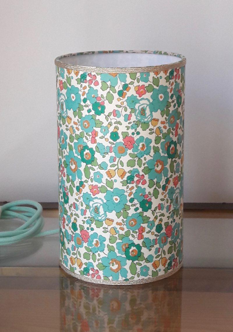 magasin luminaire lyon lampe totem tube chevet decoration interieur chambre enfant liberty betsy vert turquoise idee cadeau