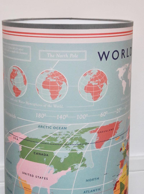 magasin luminaire lyon lampe totem tube decoration chambre enfant world map carte monde couleur