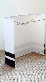 magasin luminaire lyon applique murale demi carre decoration interieur maison chambre salon noir blanc coton serge design