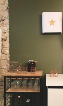 magasin luminaire lyon applique murale double gaze de coton blanc etoile or interieur maison deco