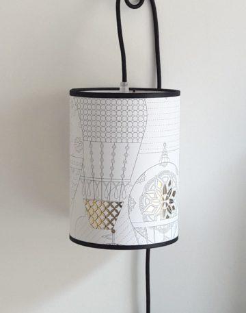 magasin luminaire lyon decoration interieur maison lampe baladeuse montgolfiere dore blanc sur mesure abat jour