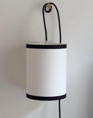 magasin luminaire lyon lampe baladeuse abat jour tissu lin blanc decoration interieur chevet