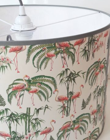 magasin luminaire lyon suspension abat jour papier flamingos flamant rose decoration interieur maison lampe