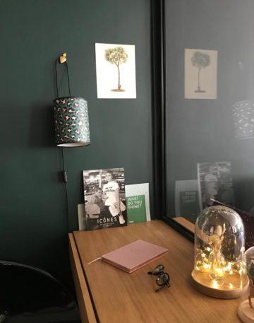 magasin luminaire lyon lampe baladeuse abat jour leopard vert rose decoration interieur