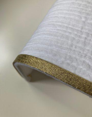 magasin luminaire lyon abat jour sur mesure double gaze coton decoration interieur chambre bordure dore