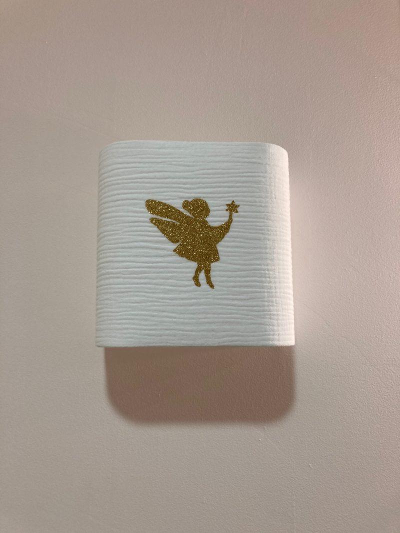 magasin luminaire lyon applique murale chambre enfant double gaze coton fee paillete