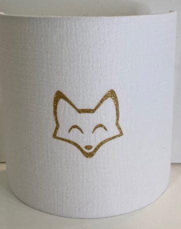 magasin luminaire lyon applique murale decoration chambre enfant double gaze coton blanche renard paillete